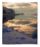 Water Ice Light And Highway 97 Fleece Blanket