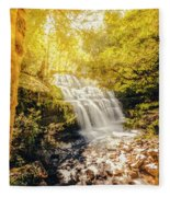 Water In Fall Fleece Blanket