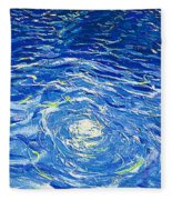 Water In The Pool Fleece Blanket