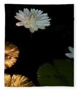 Water Lilies And Pads Fleece Blanket