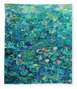 Water Lilies Lily Pad Lotus Water Lily Paintings Fleece Blanket