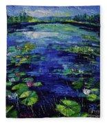 Water Lilies Magic Fleece Blanket