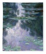 Water Lilies, Nympheas, 1907 Fleece Blanket