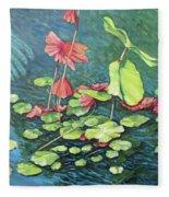 Water Lillies 1 Fleece Blanket