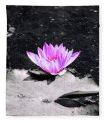 Water Lilly  Fleece Blanket