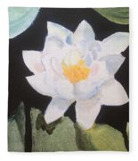 Water Lily 4 Fleece Blanket