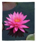 Water Lily - Afternoon Delight Fleece Blanket