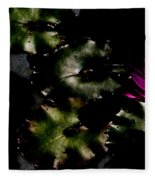 Water Lily At Dusk Fleece Blanket