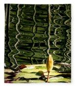 Water Lily Budd Fleece Blanket