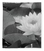 Water Lily - Burnin' Love 13 - Bw Fleece Blanket