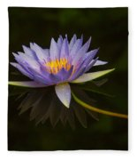 Water Lily Close Up Fleece Blanket