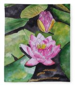 Water Lily Fleece Blanket