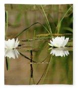 Water Lily Duet Fleece Blanket
