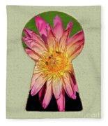 Water Lily Keyhole Fleece Blanket