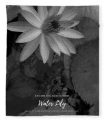 Water Lily Monochrome Fleece Blanket