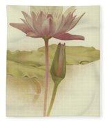 Water Lily  Nymphaea Zanzibarensis Fleece Blanket