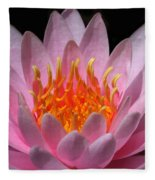 Water Lily On Fire Fleece Blanket