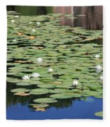 Water Lily Pond Fleece Blanket