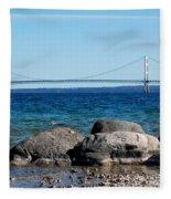Water Line Sky Line Fleece Blanket