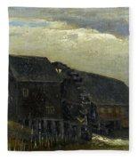Water Mill At Opwetten Vincent Van Gogh Fleece Blanket