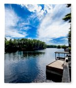Water Mirrors Sky Fleece Blanket