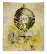 Water-pumping Windmill Fleece Blanket