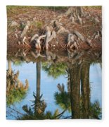 Water Reflections Fleece Blanket