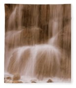 Water Softly Falling Fleece Blanket