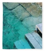 Water Steps Fleece Blanket