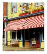 Water Street Cafe Fleece Blanket