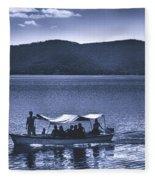 Water Taxi - Lago De Coatepeque - El Salvador Fleece Blanket