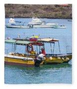 Water Taxis Waiting Fleece Blanket