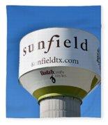 Water Tower - Sunfield Texas  Fleece Blanket