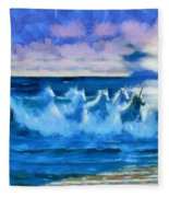 Water Unicorns Fleece Blanket