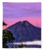 Water Volcano, Guatemala Fleece Blanket