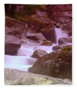 Water Winding Through Rocks Fleece Blanket