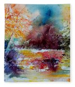 Watercolor 140908 Fleece Blanket