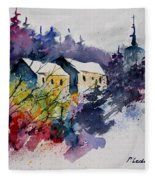 Watercolor 231207 Fleece Blanket
