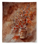 Watercolor Autumn Bunch Fleece Blanket