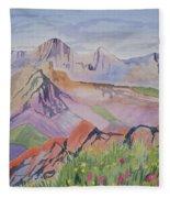Watercolor - Blanca And Ellingwood Landscape Fleece Blanket