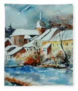Watercolor Chassepierre Fleece Blanket