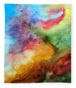 Watercolor Collage Fleece Blanket