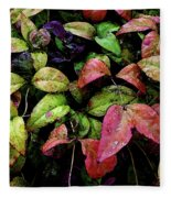 Watercolor Colorful Leaves After A Shower 1771 W_2 Fleece Blanket