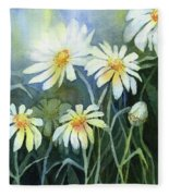 Daisies Flowers  Fleece Blanket