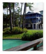 Watercolor Florida Fleece Blanket