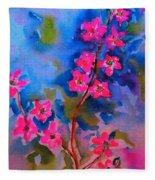 Watercolor Flowers Fleece Blanket
