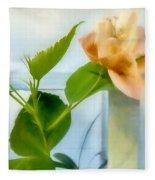 Watercolor Hibiscus Fleece Blanket