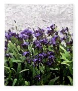 Watercolor Iris  Fleece Blanket