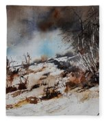 Watercolor Jjook Fleece Blanket