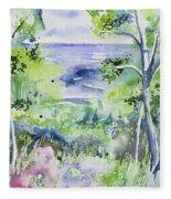 Watercolor - Lake Superior Impression Fleece Blanket
